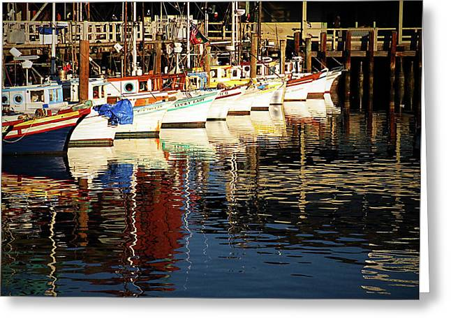 Recently Sold -  - Historic Schooner Greeting Cards - Fishermans Wharf Marina visit www.AngeliniPhoto.com for more Greeting Card by Mary Angelini