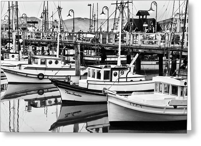 Fishermen Wharf Greeting Cards - Fishermans Wharf Greeting Card by Mick Burkey
