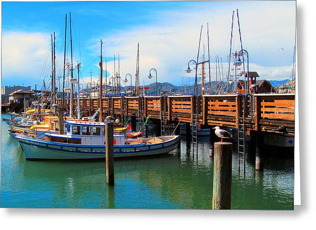 Union Square Greeting Cards - Fishermans Wharf Greeting Card by Tina M Wenger