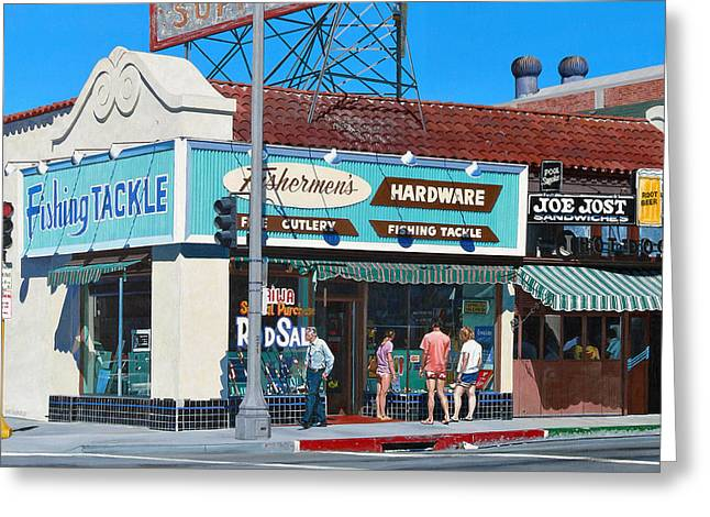Hardware Paintings Greeting Cards - Fishermens Hardware Greeting Card by Michael Ward
