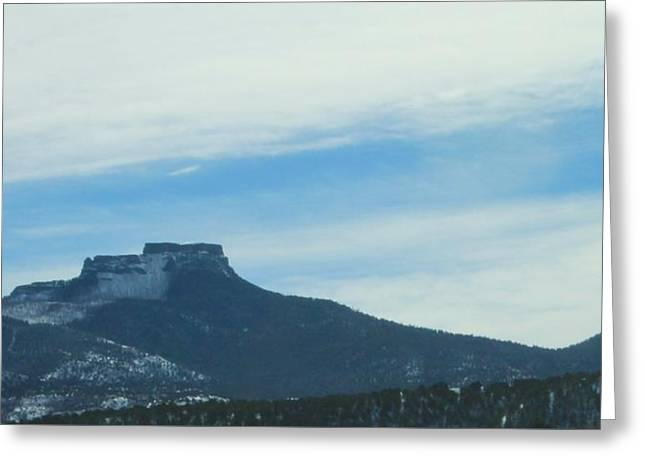 Fishers Peak Raton Mesa In Snow Greeting Card by Christopher Kirby