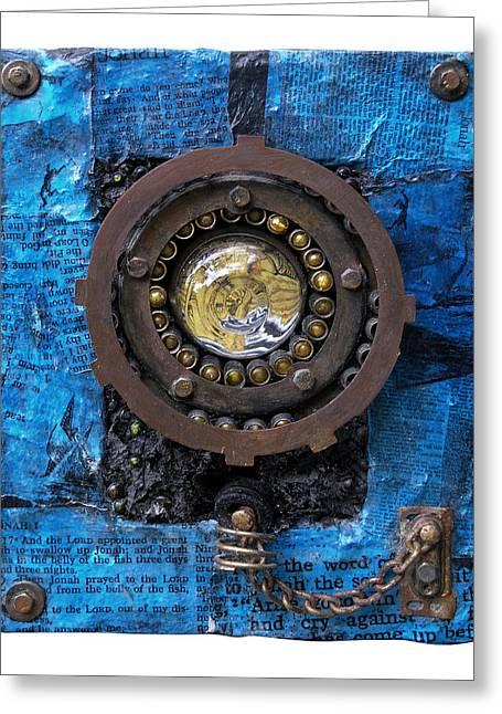 Jonah Greeting Cards - Fisheye Noah Greeting Card by Scott Rolfe
