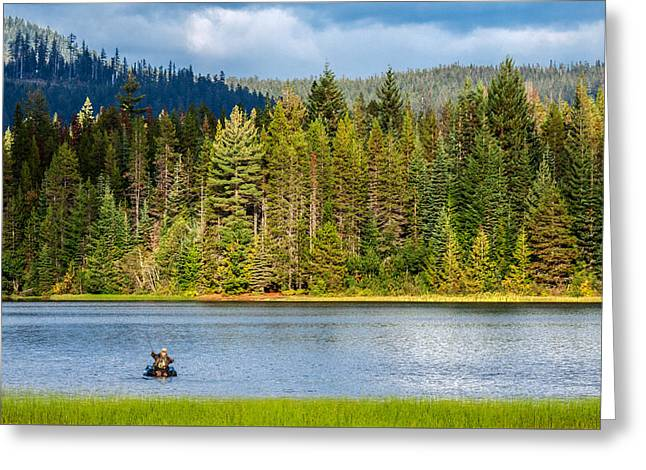 Fishing Alone Greeting Card by Todd Klassy