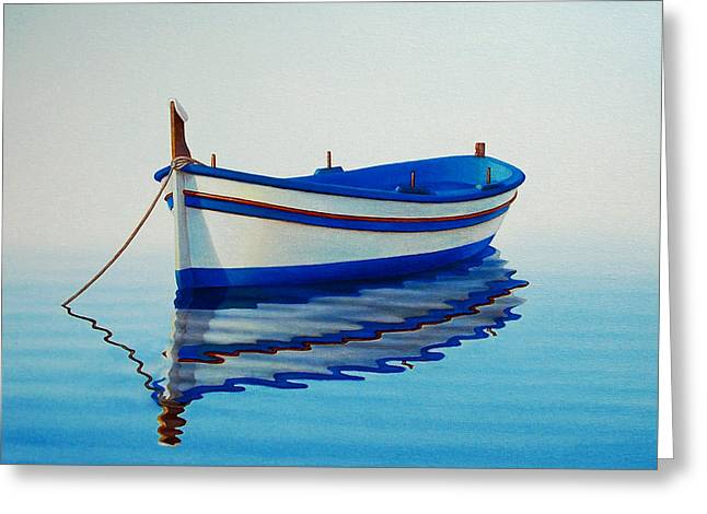 Fishing Boats Greeting Cards - Fishing Boat II Greeting Card by Horacio Cardozo