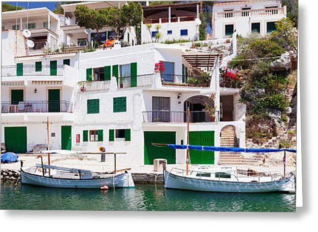 Fishing Boats Greeting Cards - Fishing Boats At Cala Figuera, Majorca Greeting Card by Panoramic Images