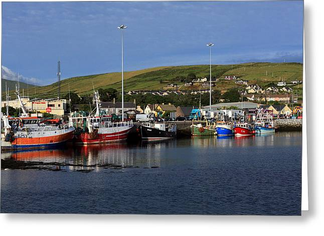 Fishing Trawler Greeting Cards - Fishing Boats At Dingle Harbour Greeting Card by Aidan Moran