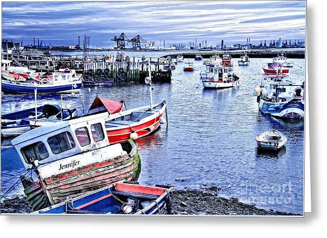 Fishing Boats At 'paddy's Hole' Greeting Card by Martyn Arnold