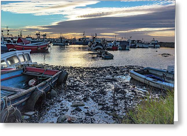 Fishing Boats At Rest Greeting Card by Keith Sayer
