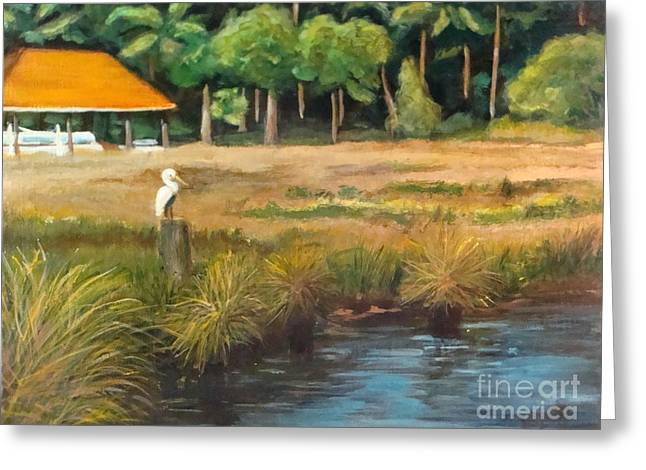Grasses Greeting Cards - Fishing Buddy 2 Greeting Card by Leslie Dobbins