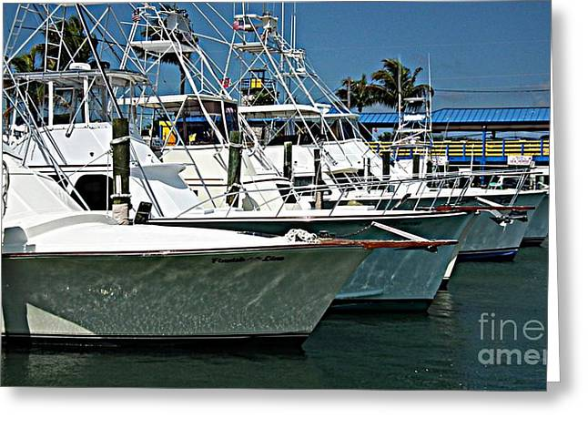 Wahoo Greeting Cards - Fishing Charters Greeting Card by Tammy Chesney