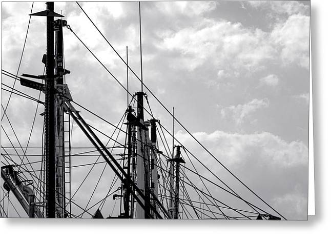 Masts Greeting Cards - Fishing Fleet Flock Greeting Card by Olivier Le Queinec