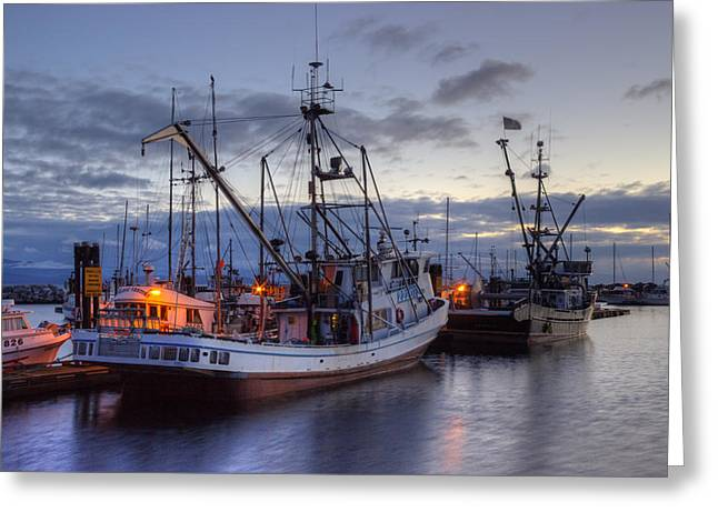 Fishing Creek Greeting Cards - Fishing Fleet Greeting Card by Randy Hall