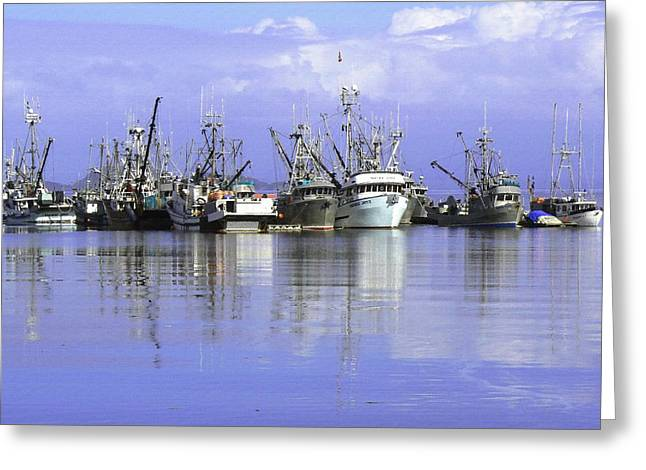 Gill Netter Greeting Cards - Fishing Fleet Vancouver Island BC Greeting Card by Barbara St Jean