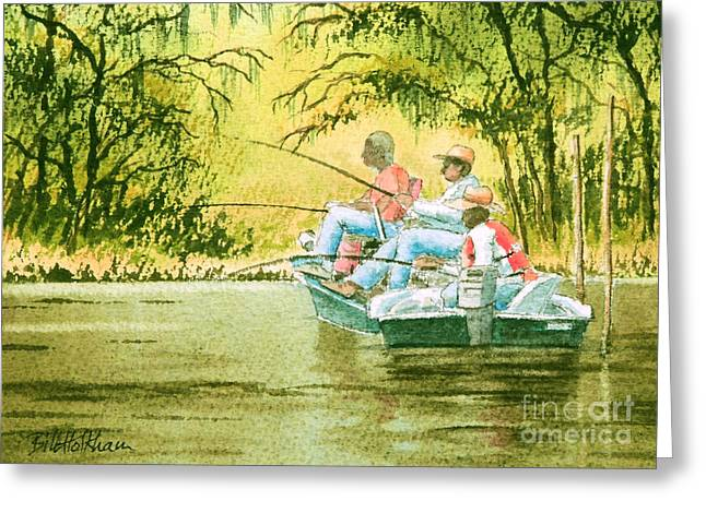 Mullet Greeting Cards - Fishing For Mullet Greeting Card by Bill Holkham
