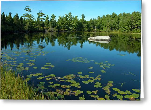 Down East Maine Greeting Cards - Fishing Hole Greeting Card by Robert Anschutz