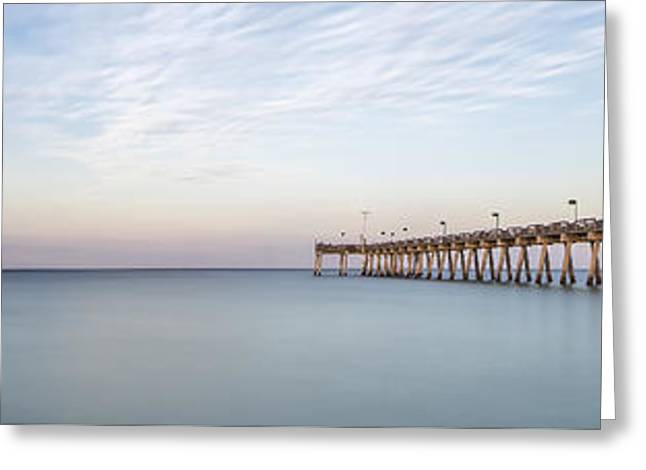 Pink Prints Greeting Cards - Fishing in Venice Florida Greeting Card by Jon Glaser