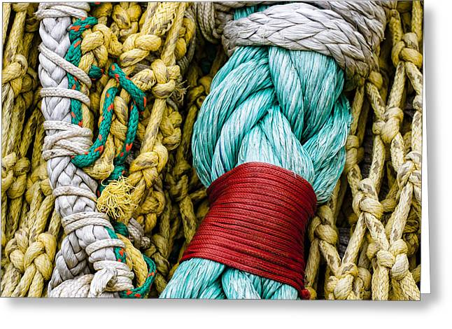 Greeting Cards - Fishing Net Detail Greeting Card by Carol Leigh