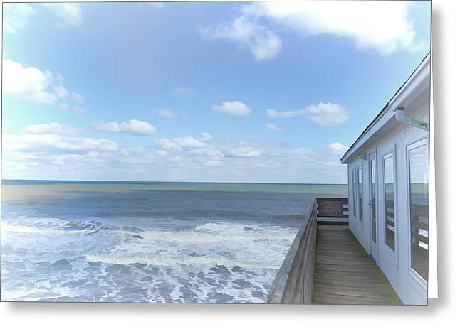 Surf Silhouette Paintings Greeting Cards - Fishing Pier 7 Greeting Card by Lanjee Chee