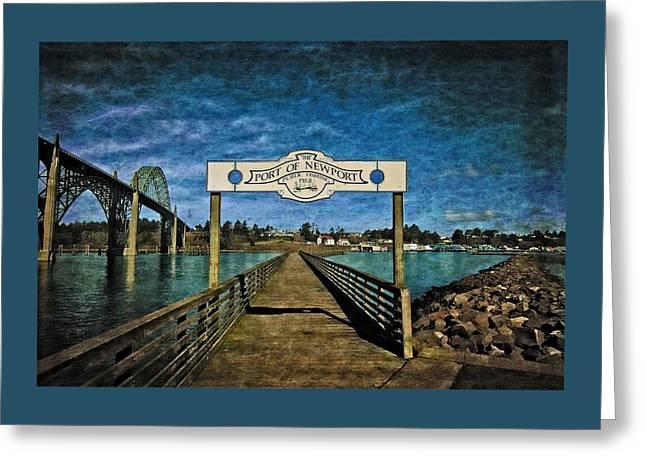 Fishing Pier Greeting Card by Thom Zehrfeld