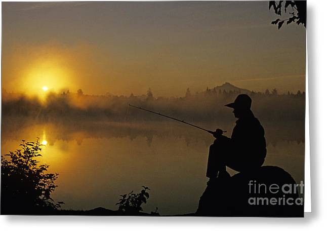 Sit-ins Greeting Cards - Fishing Rock Greeting Card by Jim Corwin