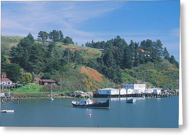 Small Towns Greeting Cards - Fishing Village In Spring Along Highway Greeting Card by Panoramic Images