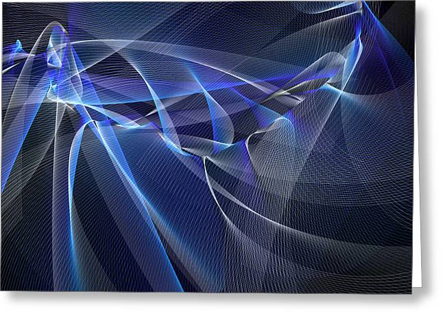Fishnet Blue Greeting Card by Blue Doves