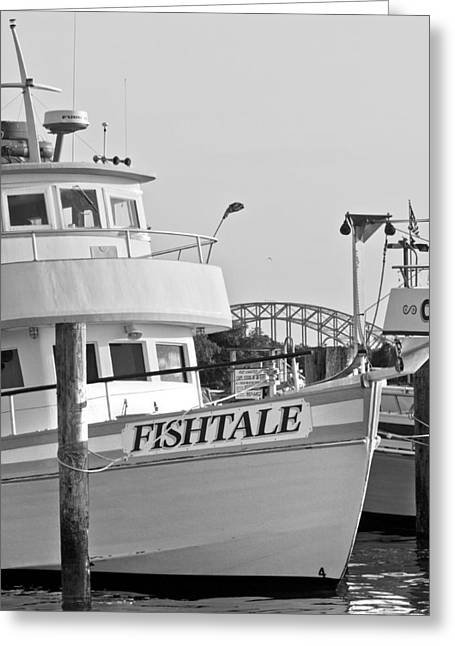 Boating Greeting Cards - Fishtale Greeting Card by Alida Thorpe