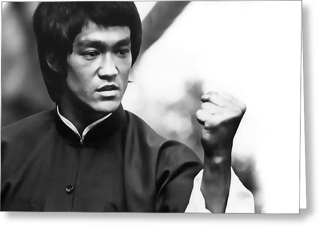 Enter The Dragon Greeting Cards - FIST of FURY Greeting Card by Daniel Hagerman