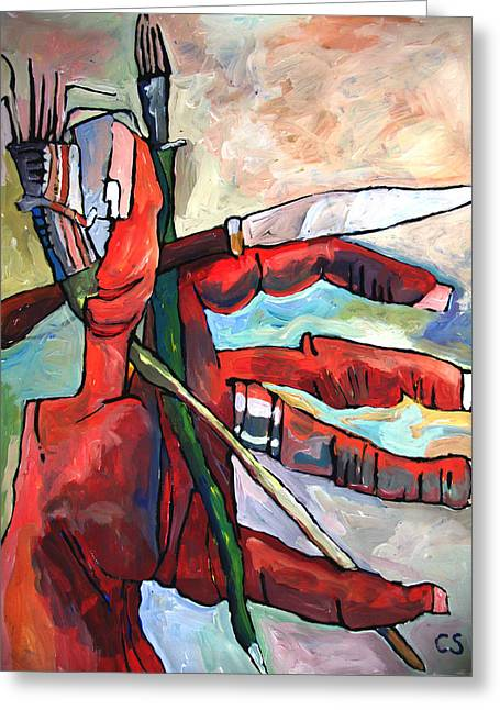 Everything Greeting Cards - FISTFUL of BRUSHES Greeting Card by Charlie Spear