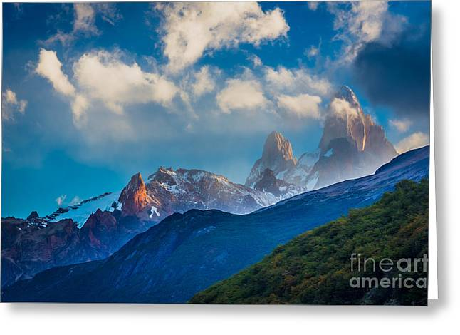 Roy Greeting Cards - Fitz Roy Cloudbreak Greeting Card by Inge Johnsson