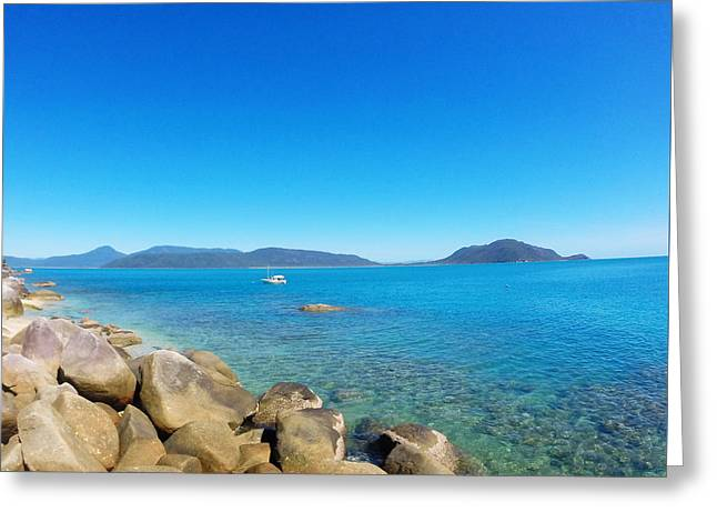 View Pyrography Greeting Cards - Fitzroy Island Greeting Card by Claire Eisenzimmer