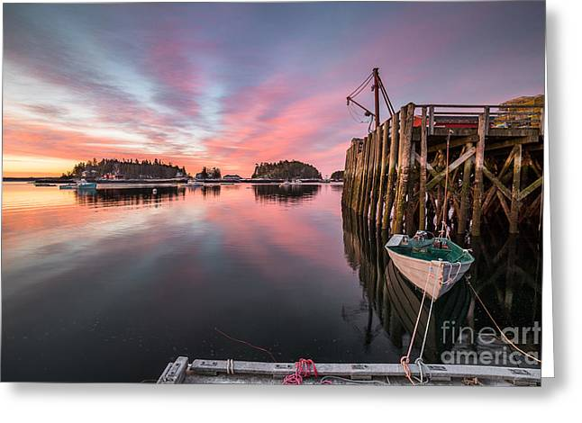 Mid-coast Maine Greeting Cards - Five Islands Sunrise Reflections Greeting Card by Benjamin Williamson
