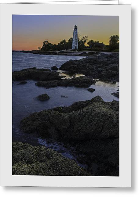 Scenic Greeting Cards - Five Mile Point Lighthouse - New Haven Greeting Card by Thomas Schoeller