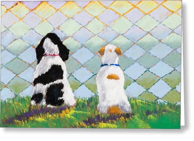 Spaniel Pastels Greeting Cards - Five OClock Greeting Card by Cinda Sue Dow