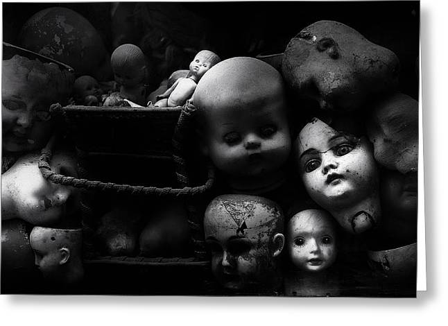 Doll Photographs Greeting Cards - Fixed Gaze Greeting Card by Fulvio Pellegrini