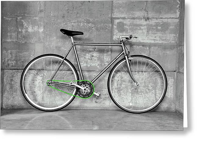 Fixed Gear Bicycle Greeting Card by Dutourdumonde Photography