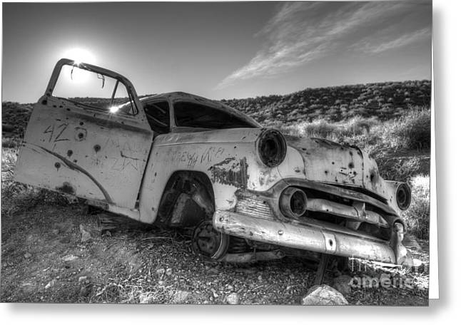Rusted Cars Greeting Cards - Fixer Upper Greeting Card by Bob Christopher