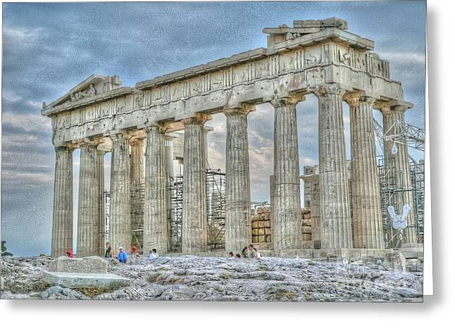 Acropolis Photographs Greeting Cards - Fixer Upper Greeting Card by David Bearden