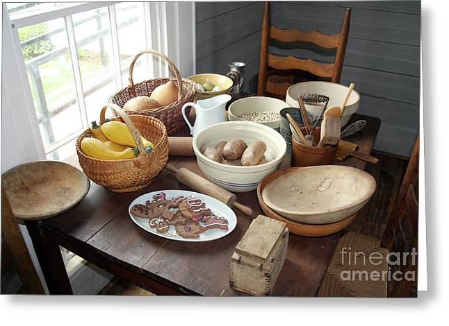 Supper Bowl Greeting Cards - Fixin Supper Greeting Card by Joy Tudor