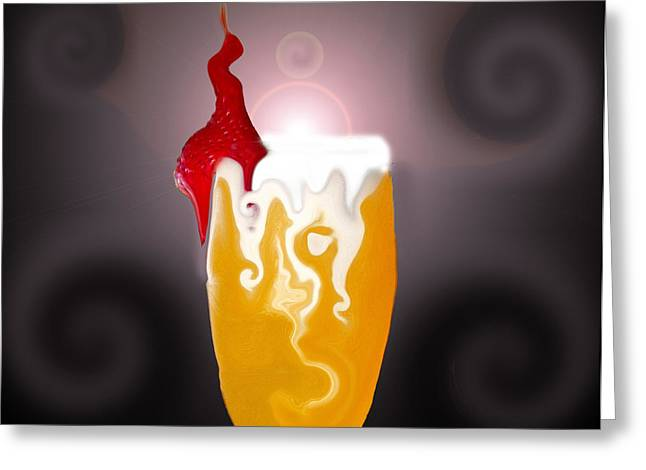 Beverage Digital Art Greeting Cards - Fizzled Greeting Card by Amanda Vouglas