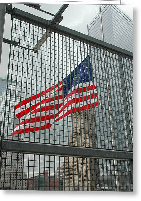 Flag At Ground Zero Greeting Card by Frank Mari