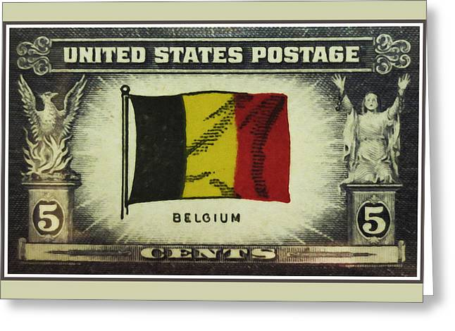Oppressed Greeting Cards - Flag of Belgium Greeting Card by Lanjee Chee