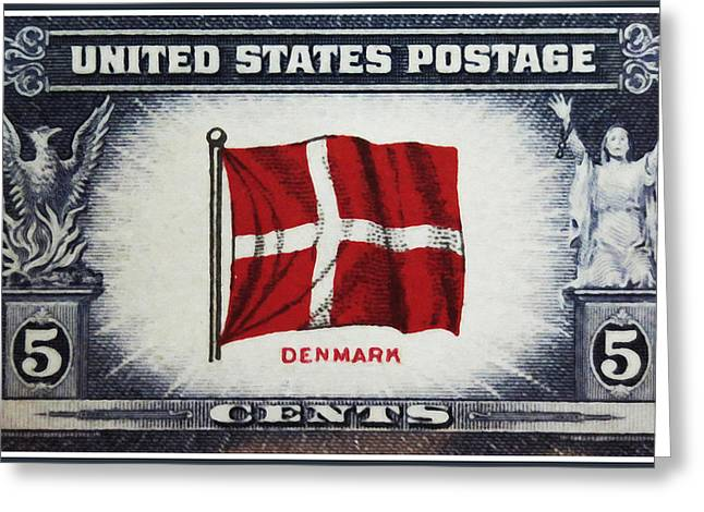 Overruns Greeting Cards - Flag of Demark Greeting Card by Lanjee Chee