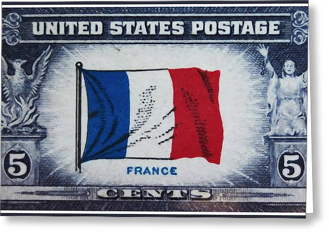 Overruns Greeting Cards - Flag of France Greeting Card by Lanjee Chee