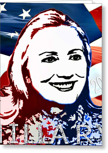 President Obama Greeting Cards - Flag of Hillary Greeting Card by Jost Houk