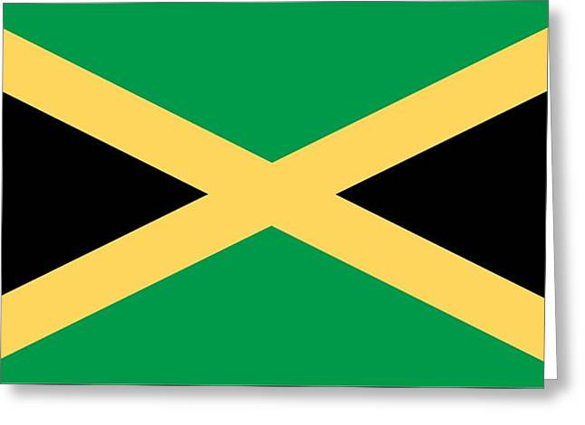 Black Flag Greeting Cards - Flag of Jamaica Greeting Card by Unknown