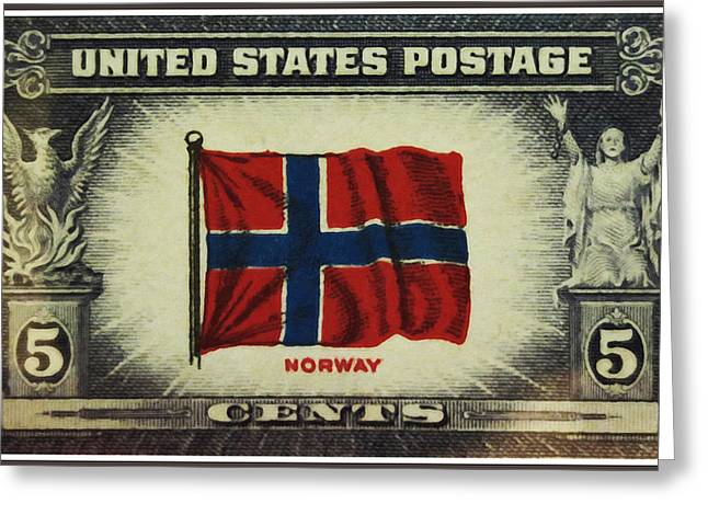 Oppressed Greeting Cards - Flag of Norway Greeting Card by Lanjee Chee