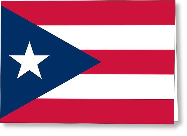 Flag Of Puerto Rico Greeting Card by Unknown