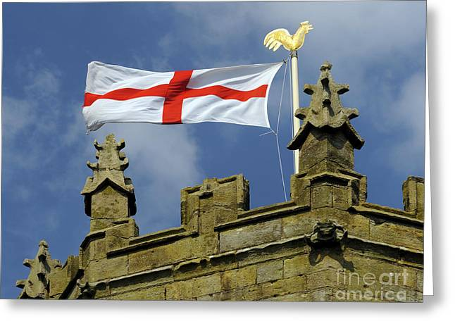 Weathervane Greeting Cards - Flag of Saint George. Greeting Card by Stan Pritchard