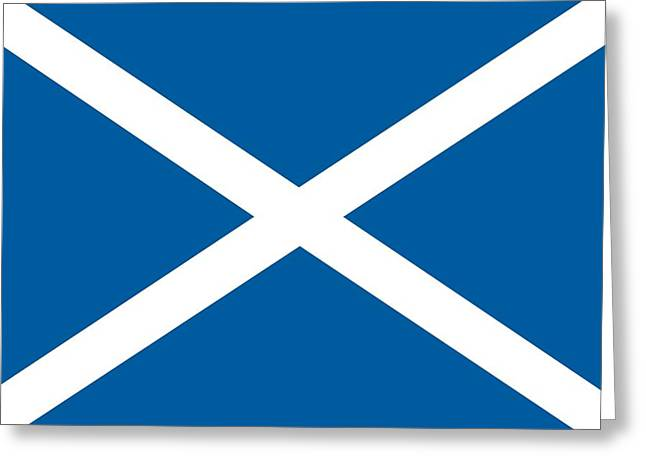 Blue Cross Greeting Cards - Flag of Scotland Greeting Card by Unknown